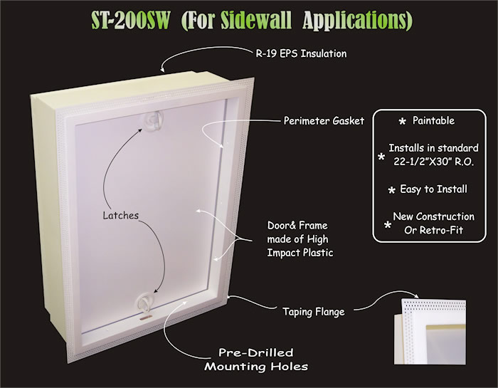 small attic crawl space ideas - SkuttleTight All In e Attic Entry System